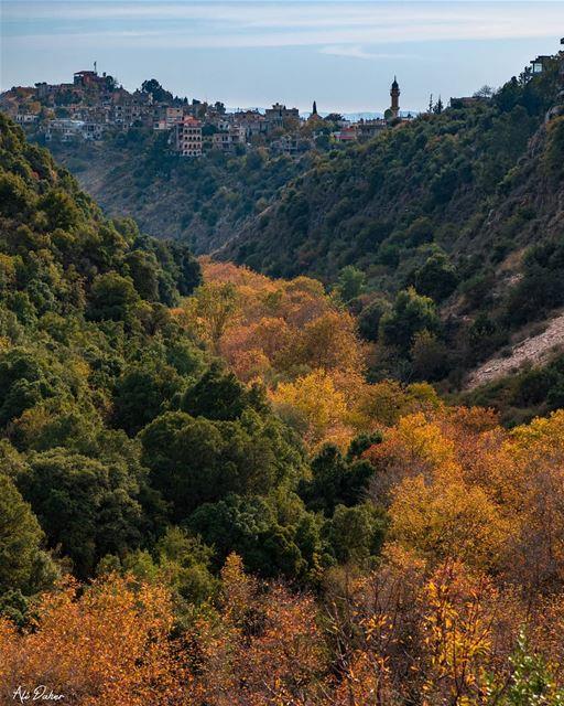 Golden route 🍁🍁.... waterfall lake river paradise watershot... (Arabsalim South Lebanon)
