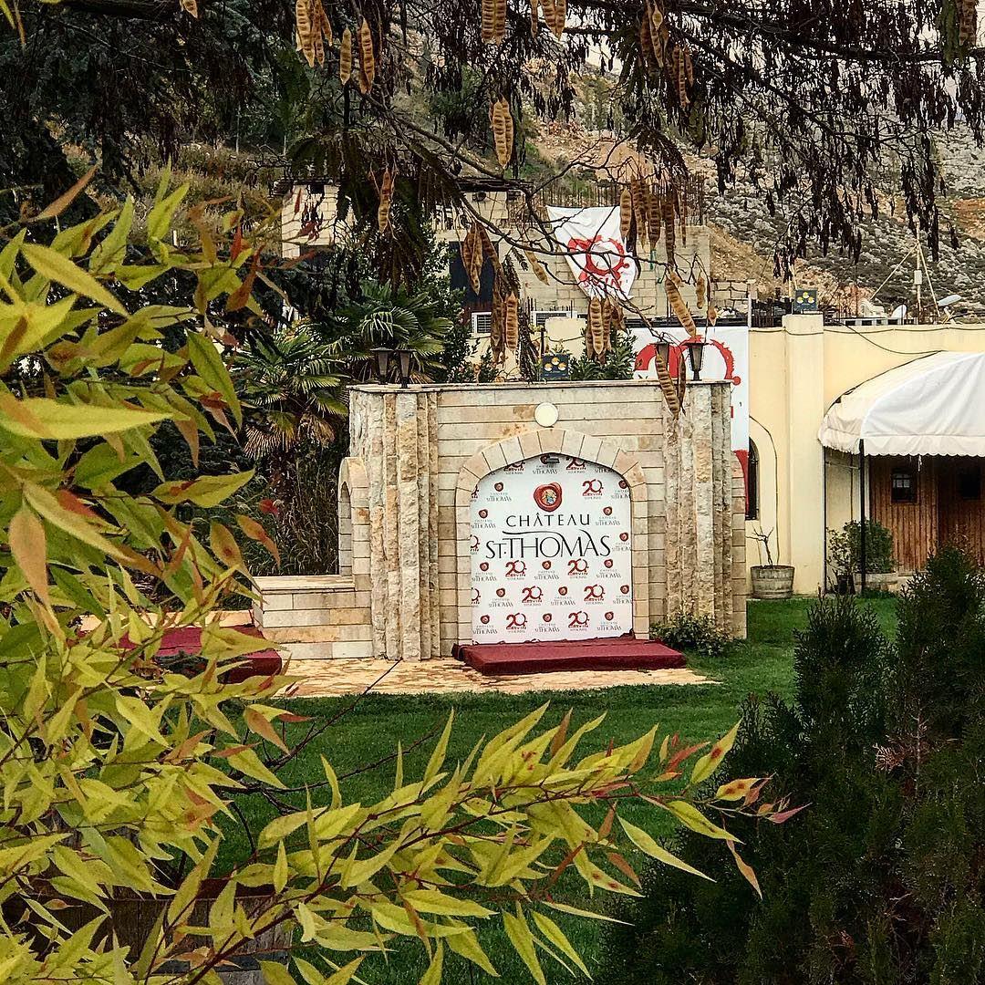 Fall season in Chateau St Thomas 🍂🍁🍂🍁 chateaustthomas lebanon ... (Chateau St. Thomas)