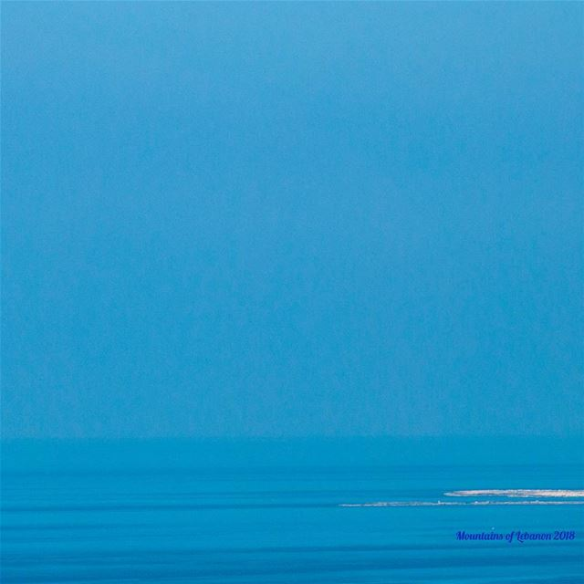 Blue melt down between sky and sea with no horizon just limitless blue!... (Sanani Island)