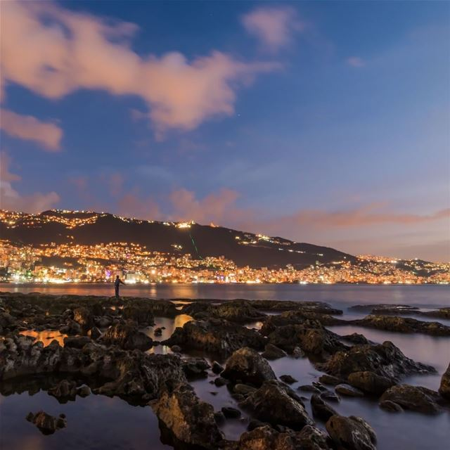 harissa jounieh jouniehnightlife longexposure sea beach colors ...