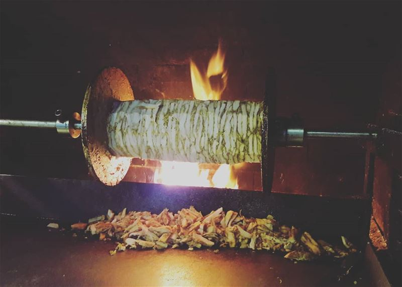 Have you ever tried a wood-fire cooked Shawarma?No, then you really need... (Al Qubayyat, Liban-Nord, Lebanon)