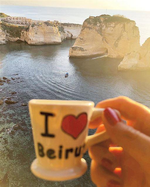 ع روشة 🇱🇧☕️. .... ramramcoffee turkishcoffee butfirstcoffee ... (Beirut, Lebanon)