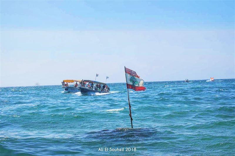 tb tripoli sea boat lebanon lebanese flag waves northlebanon sky... (Tripoli, Lebanon)