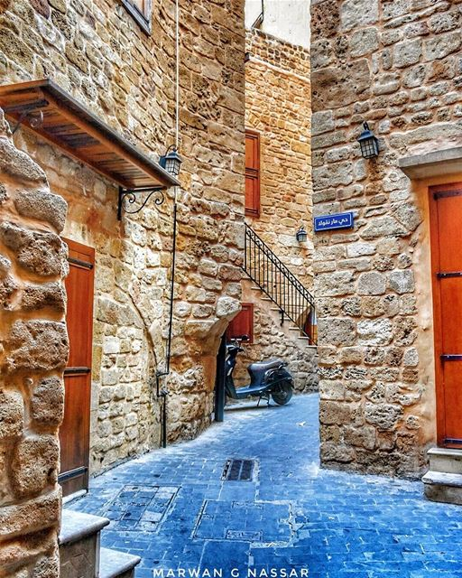 We wander through old streets and pause before the age stricken houses and... (Sidon, Lebanon)