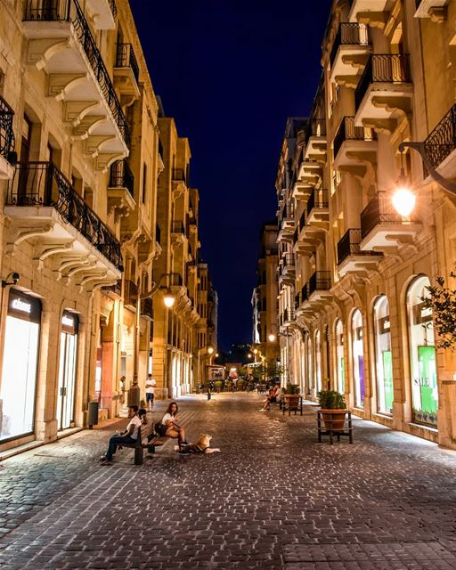 The Downtown of Beirut at evening, beautiful architecture and lights. 27/11 (Beirut, Lebanon)