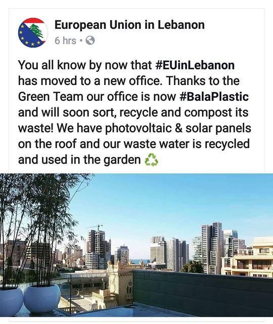 😍👌 EUinlebanon going towards BalaPlastic! circulareconomy zerowaste...