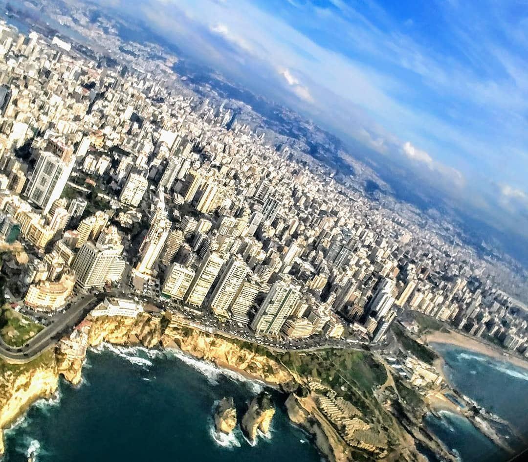 Beirut from the Sky...By Ghassan_Yammine beirut livelovebeirut ... (Beirut, Lebanon)