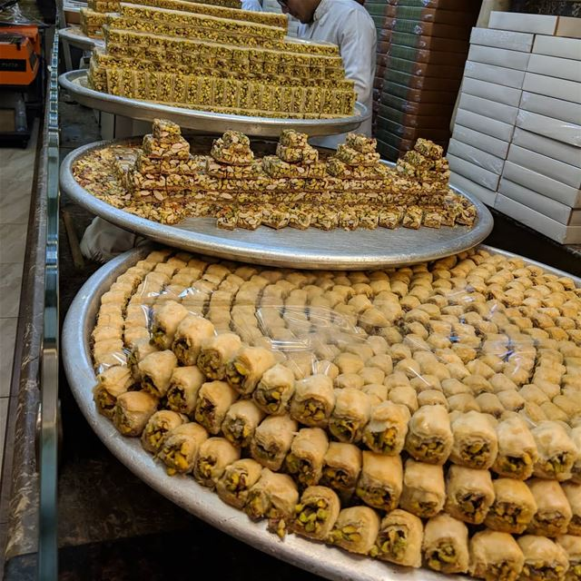 baklawa   sweet  tasty  delicious  yummy  yummyfood  instafood  food ... (دمشق - Damascus)