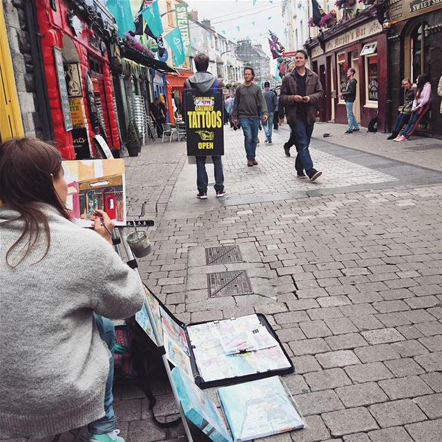 Galway, Ireland: street art & body art & everything art.I wish I got to... (Galway, Ireland)