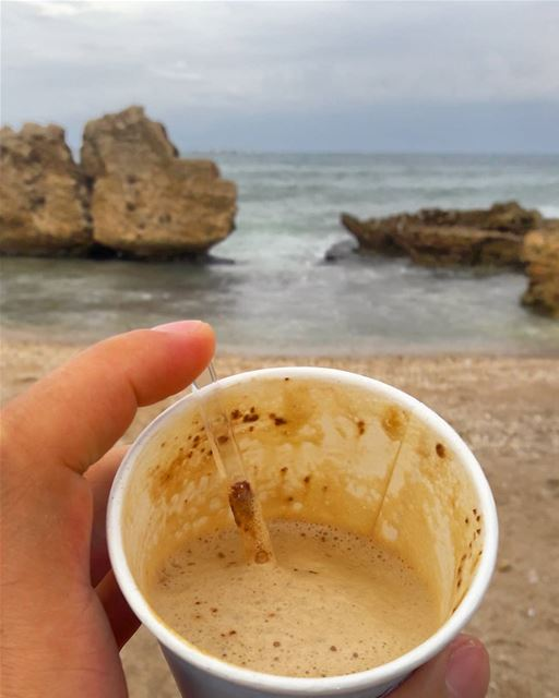 Warm drink in a windy day ☕......... tripoli elmina mina ... (El-Mina, Tripoli, Lebanon)