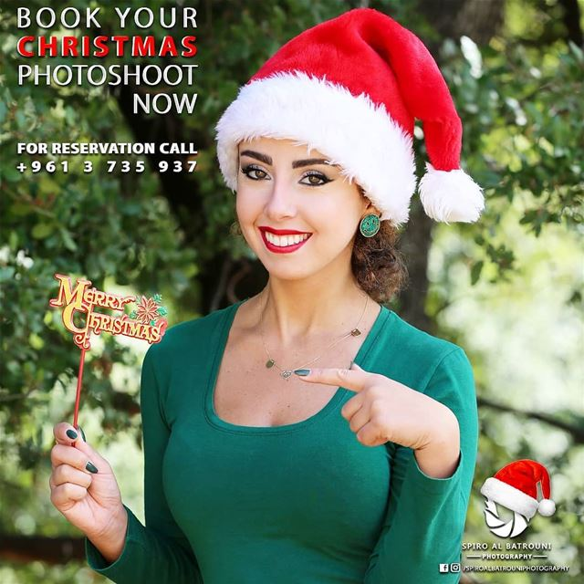 Book your christmas photoshoot now !!!For reservation call +961 3 735 937...