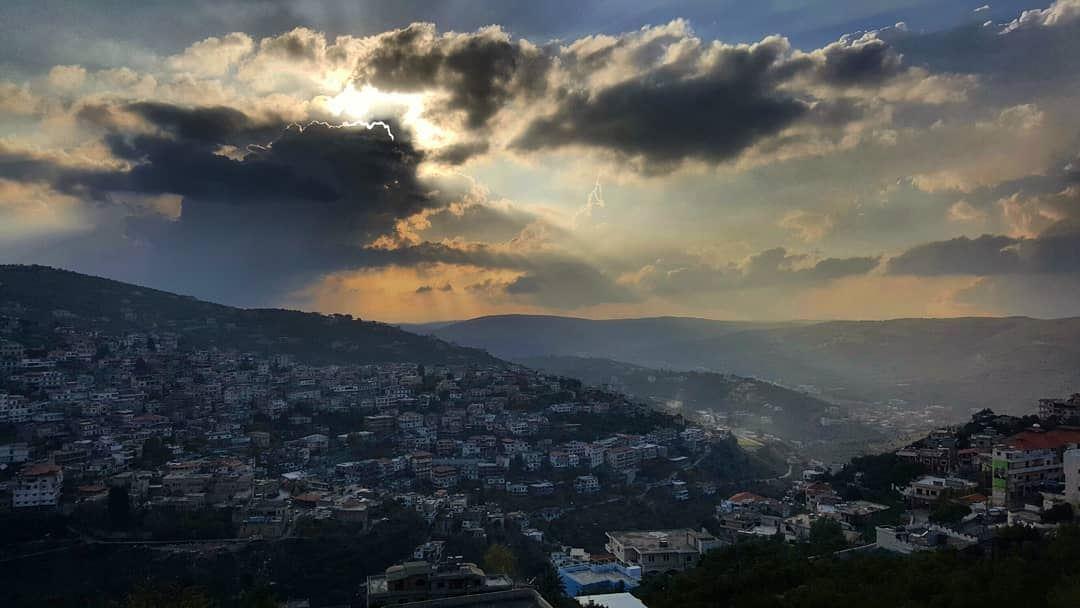 sky wintersky sunset hasbaya sunsetlovers hasbaya_pictures ... (Hasbayya, Al Janub, Lebanon)
