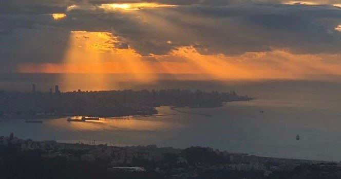 I have fallen in love before, but with you I rise in love decembersunset... (Beirut, Lebanon)