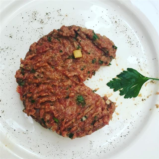 pacman strikes again  steaktartare  sundaylunch  frenchfood  couqley ... (Couqley)