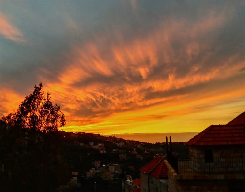 Magical Sunset...By Ghassan_Yammine sunset_vision sunset_hub ... (Beït Chabâb, Mont-Liban, Lebanon)