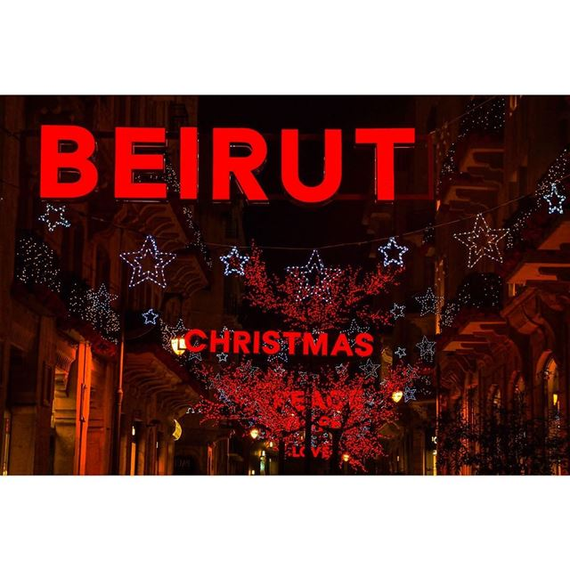 BEIRUT CHRISTMAS PEACE HOPE LOVE ❤️ (Downtown Beirut)