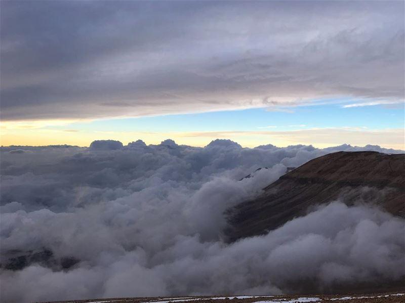 Sea of clouds... lebanon lebanese super_lebanon livelovelebanon ... (Bcharreh, Liban-Nord, Lebanon)