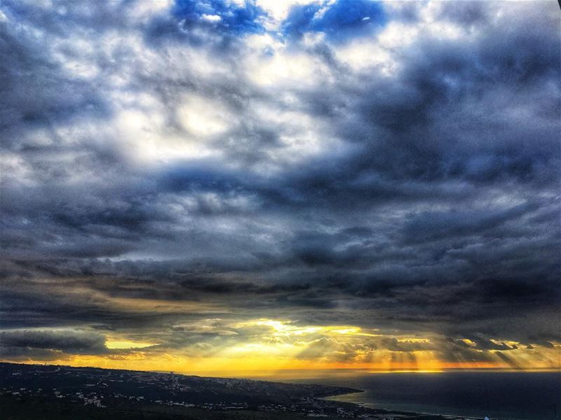 lebanon beirut instanature clouds autumn love nature sea sunset ... (Baaouarta, Mont-Liban, Lebanon)
