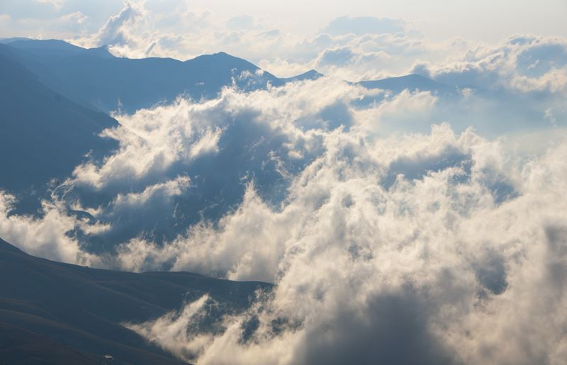Clouds View from the Road to the Black Peak