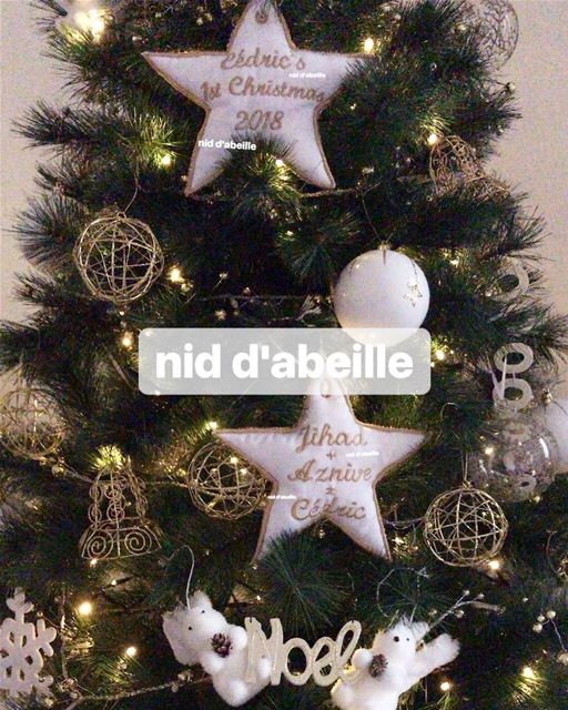 Look at the stars 🌟 personnalised tree ornament made with love ❤️Write it...