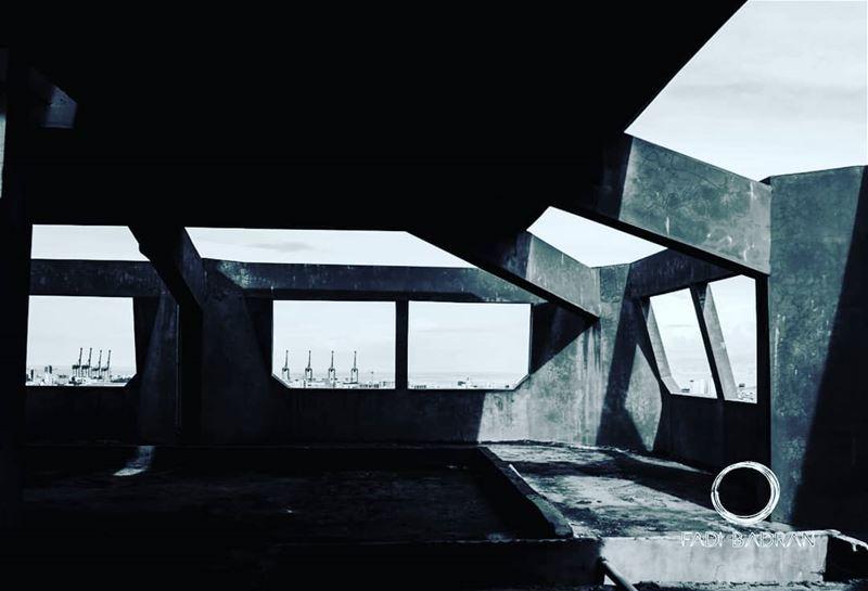Abandoned Brutalism glitz_n_grime exploretheglobe worlderlust ... (Beirut, Lebanon)