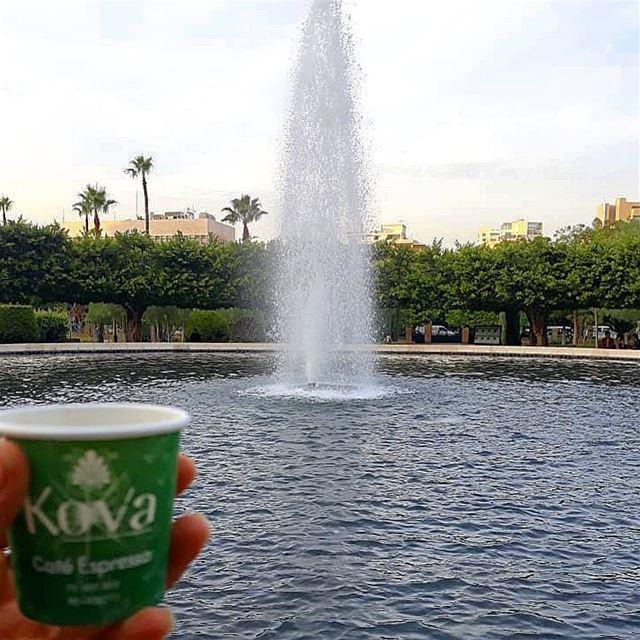 يكفيني من الصباح انت و كوب قهوة..... ramramcoffee turkishcoffee ... (Sanayeh Park)