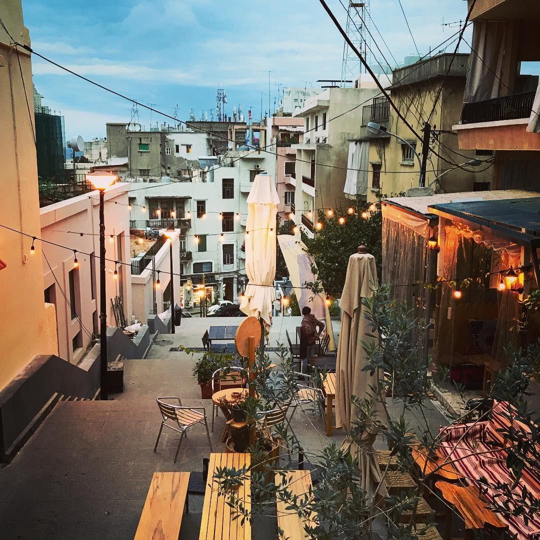 Li Beirut livelovebeirut.... lebanon hideway bluesky instapic ... (Vendome Stairs)