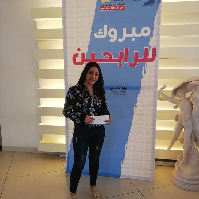 batroun_shopping_festival مبروك للرابحين في سحوبات شهر التسوق :رفقا سلوم (Batroun)