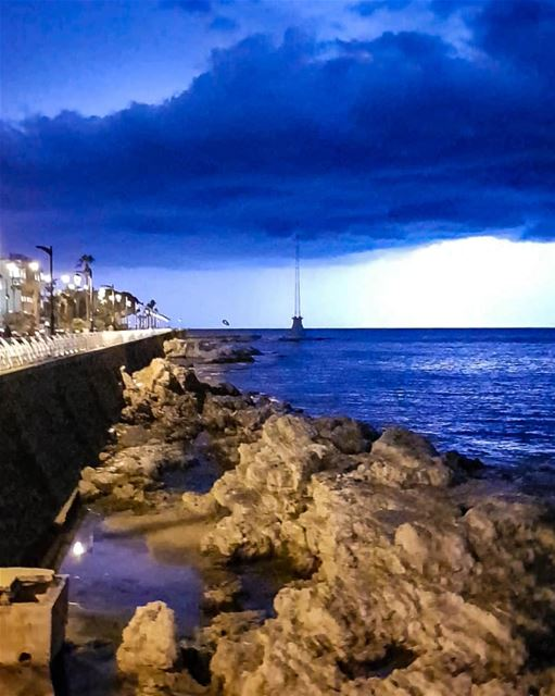 Natural Phototherapy..Just run and hug the rain and lightning..⚡Natural... (Beirut, Lebanon)