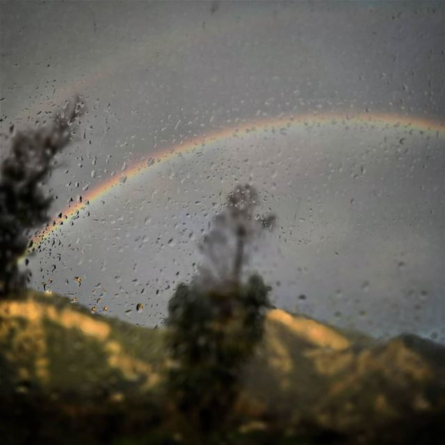 Rain-bow - ichalhoub in Lebanon shooting with a mobile phone ... (Hamat)