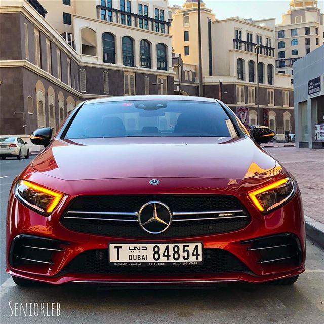 New Mercedes-Benz AMG CLS 53 in Designo red cardinal metallic——> video... (Dubai, United Arab Emirates)