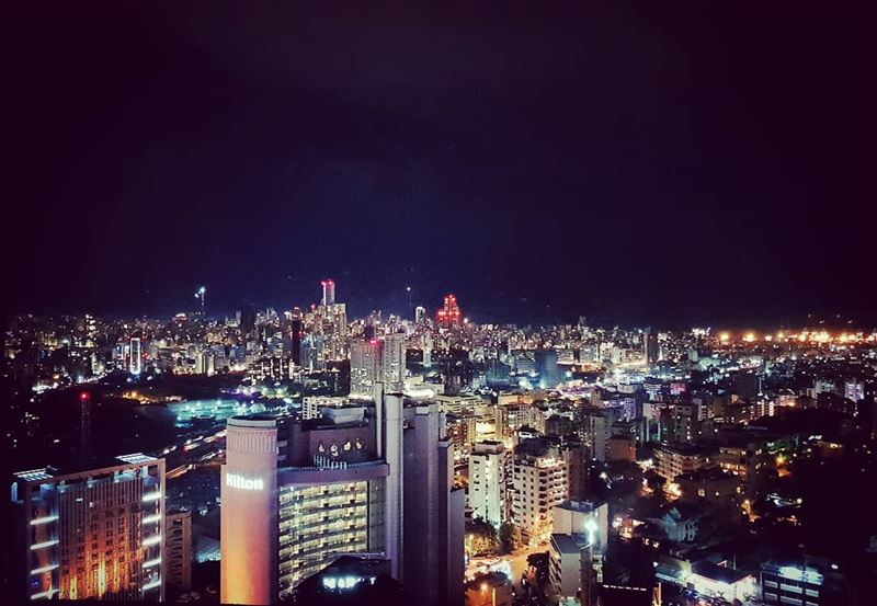 Cosmopolitan and View........ cocktail hour citylife nightlife... (Beirut, Lebanon)
