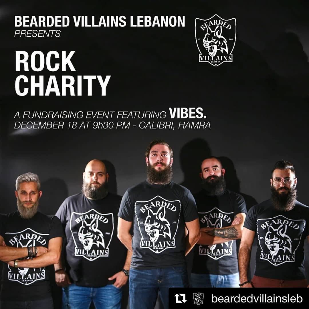 """Bearded Villains Lebanon presents""""Rock Charity """"The year's almost over..."""