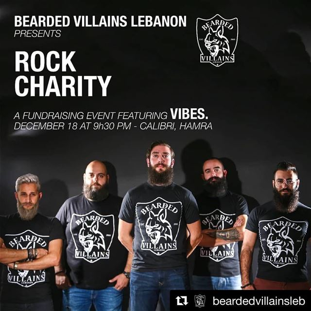 "Bearded Villains Lebanon presents""Rock Charity ""The year's almost over..."