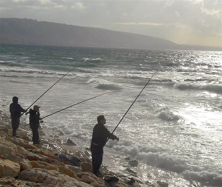 Fishing day 🎣 ............ Tripoli Lebanon fishing ... (Tripoli, Lebanon)