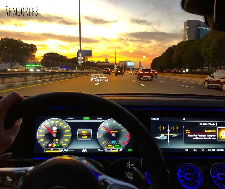 Mercedes-Benz AMG CLS 53 sunset 🌅 drive on SKR——————————————————————— @me (Grand Hyatt Dubai)