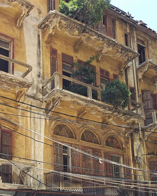 keeping the past alive 🌾 this building has been demolished 🥀••... (Beirut, Lebanon)