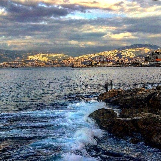 🌊💙💙 photography landscape mediterranean sea instalebanon ... (Beirut, Lebanon)
