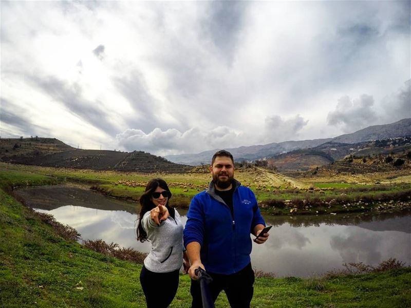Together We Explore The World 💙💚 HappyWifeHappyLife AmazingNature ... (Saghbîne, Béqaa, Lebanon)