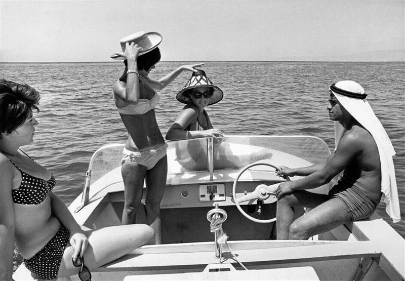 Sailing on a small Boat in the 1960s