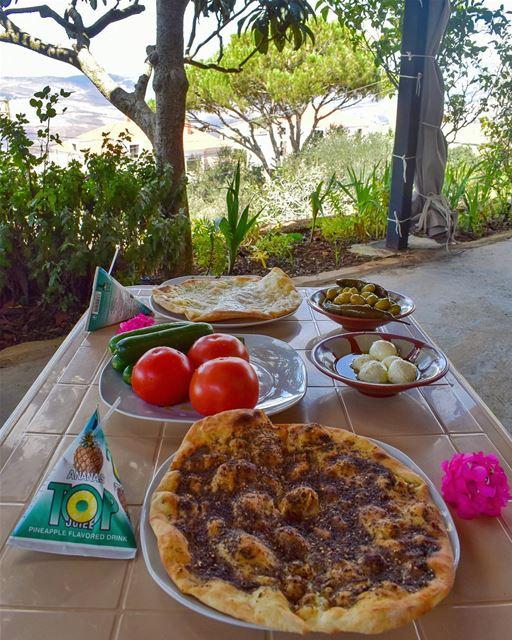 LebaneseBreakfast traditions, memories & good vibes 😍💚🔆... (El Qlaïaâ, Al Janub, Lebanon)