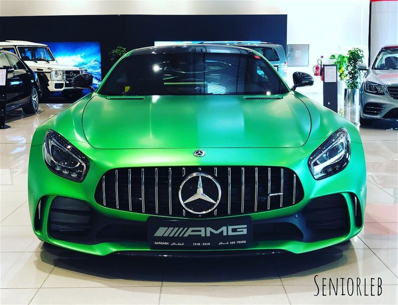They called it Beast of the Green Hell 😈 AMG GTR——————————————————————— @ (Dubai, United Arab Emirates)