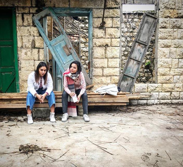 👩🏻💼WORK TIME FUN TIME 👩🏻💼ريّة وسكينة بحاصبيا work fun ... (Hasbayya, Al Janub, Lebanon)