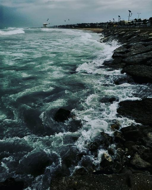 بالصيف او بالشتي ،دايما حلو وبكل حالاتو seaside morningwalk winter waves...