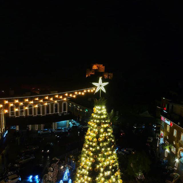 My Byblos christmas christmastree christmastime christmaslights love... (Byblos - Jbeil)