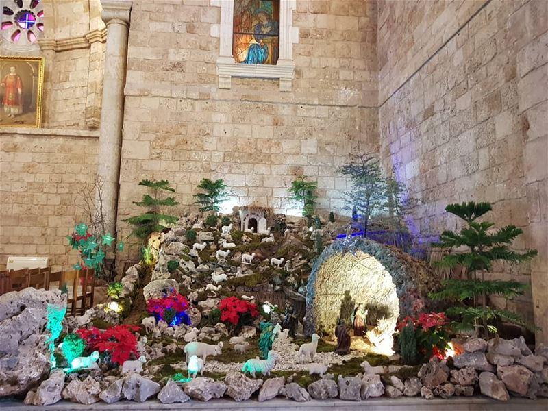 batroun مغارة_الميلاد البترون_سفرة christmas christmastime ... (Eglise St. Estephan Batroun)