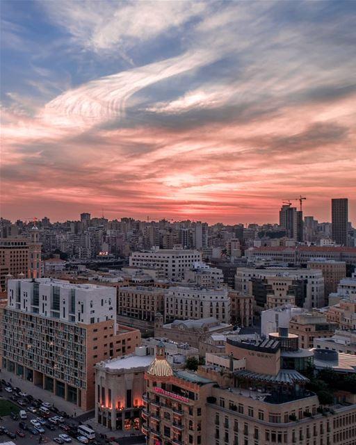 Breathtaking sundown🌇... beirut Lebanon dji drones quadcopter ... (Beirut, Lebanon)
