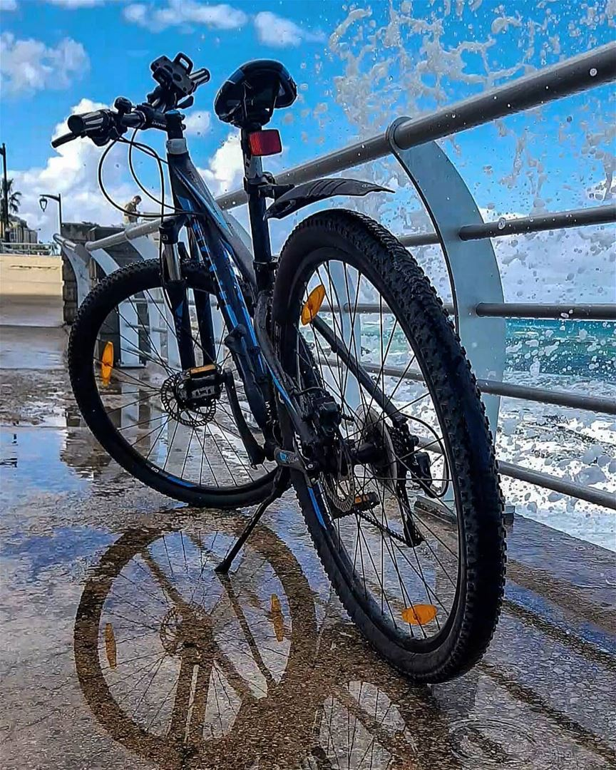 """Give me a definition for """"normal""""Then say I am crazy :)🌊🚲🌊..📍Home... (Ain El Mreisse, Beyrouth, Lebanon)"""