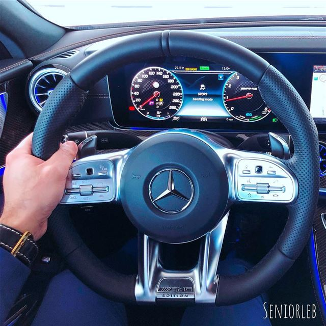 AMG Steering wheel crafted with great details and art. ———————————————————— (Dubai, United Arab Emirates)