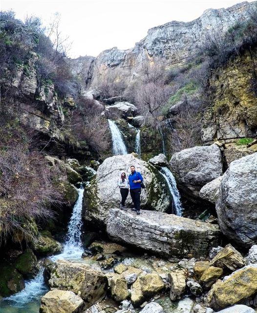 Winter Hike Waterfall Waterfalls Faraya Lebanon 🇱🇧... (Faraya, Mont-Liban, Lebanon)